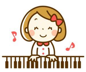 ピアノひく女の子
