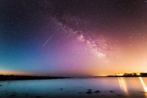 流れ星と天の川