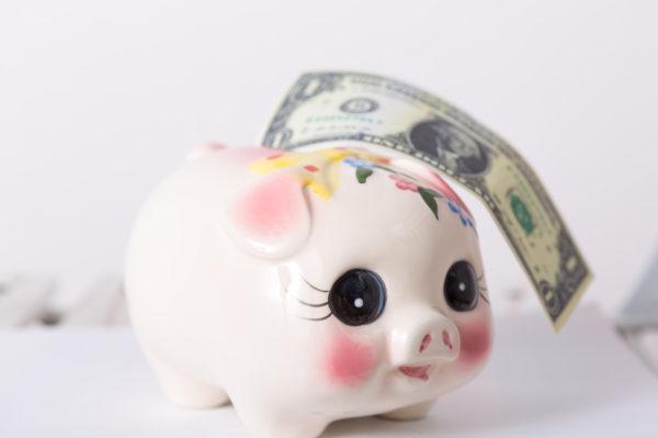 豚貯金箱とお金