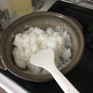 土鍋ご飯できあがり