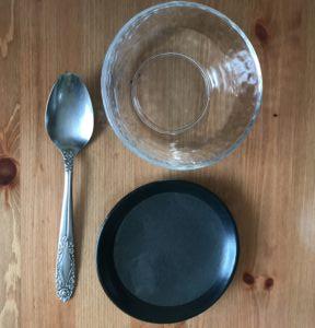 オブラートと水とスプーン