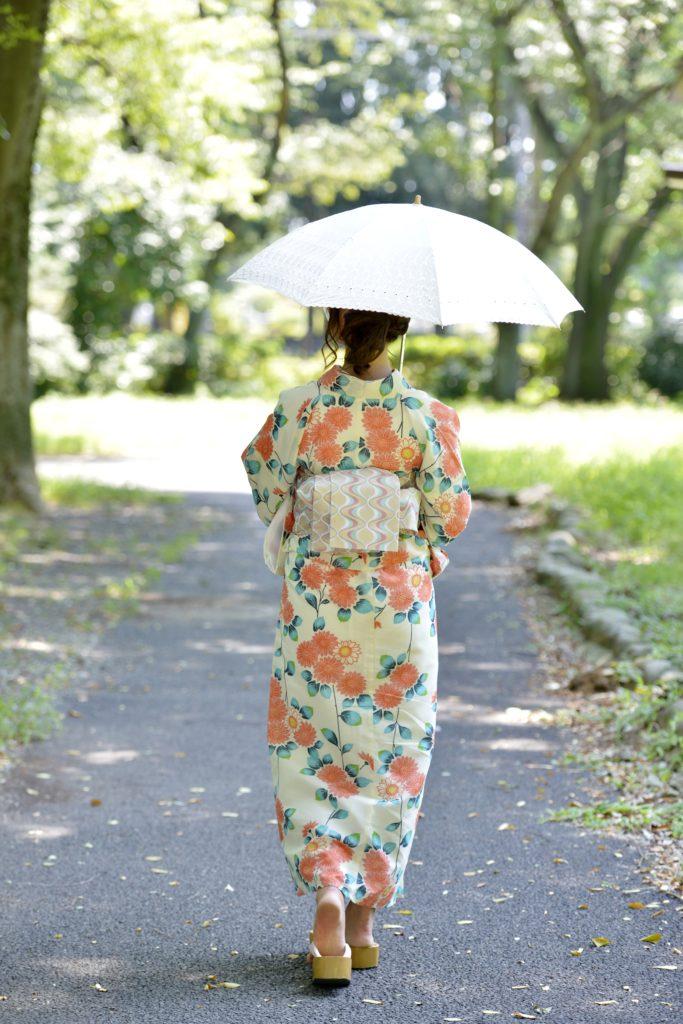 日傘をさす人