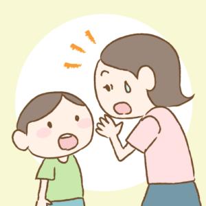 子供の歯を見て驚くお母さん