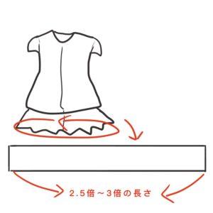 用意する布の図解