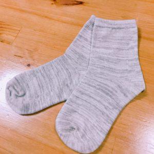 杢グレー靴下